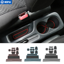 MOPAI Rubber Red White Car Interior Gate Slot Pad Mat Cup Mat Decoration for Suzuki Jimny 2015 Up Car Accessories Styling