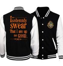 2017 Autumn Winter Jacket Male Fashion Streetwear Print Hogwarts/Resident Evil/V For Vendetta Bomber Jacket Hip Hop Jackets Men