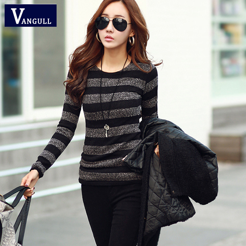 2016 Autumn Spring Slim Thin Sweaters Women Long Sleeve Pullover ...