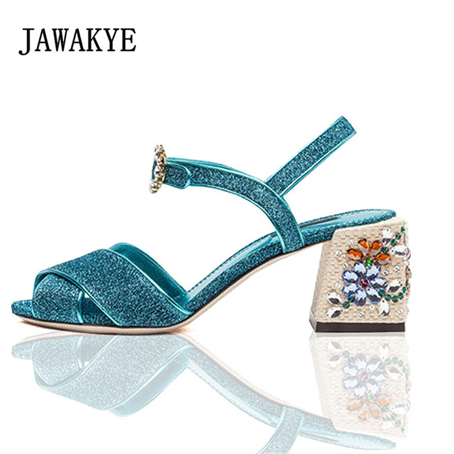 Crystal flower Gladiator Sandals Women rhinestone high Heels Bling bling Cross over runway design summer wedding Shoes Woman Crystal flower Gladiator Sandals Women rhinestone high Heels Bling bling Cross over runway design summer wedding Shoes Woman