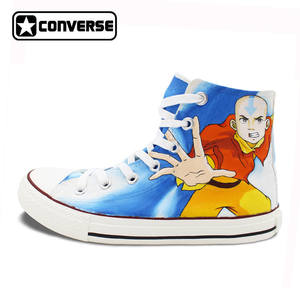 007bc7b9389d Converse Canvas Shoes Men Women Anime Cosplay Shoes Chuck Taylor Last  Airbender Aang