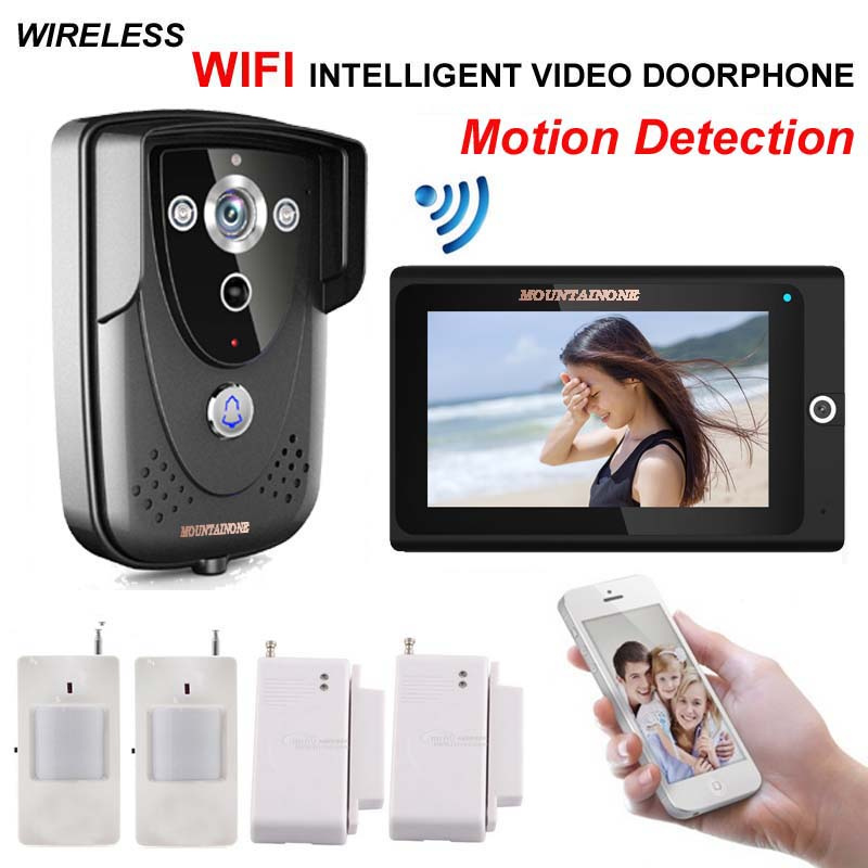 MOUNTAIONEhigh-definition intelligent WIFI network wireless video door phone/ doorbell w/t anti-theft alarm and motion detection