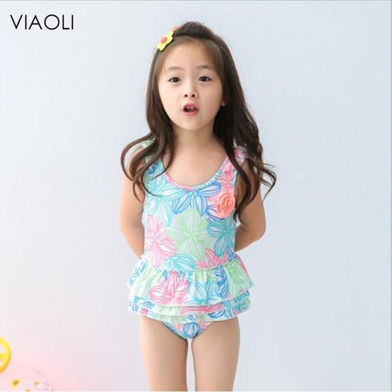 8b1f85a539b3d VIAOLI Kids Bathing Suits Girls One Piece Floral Bikini children's swimwear  for girls infant swimsuit girl child Summer bikini