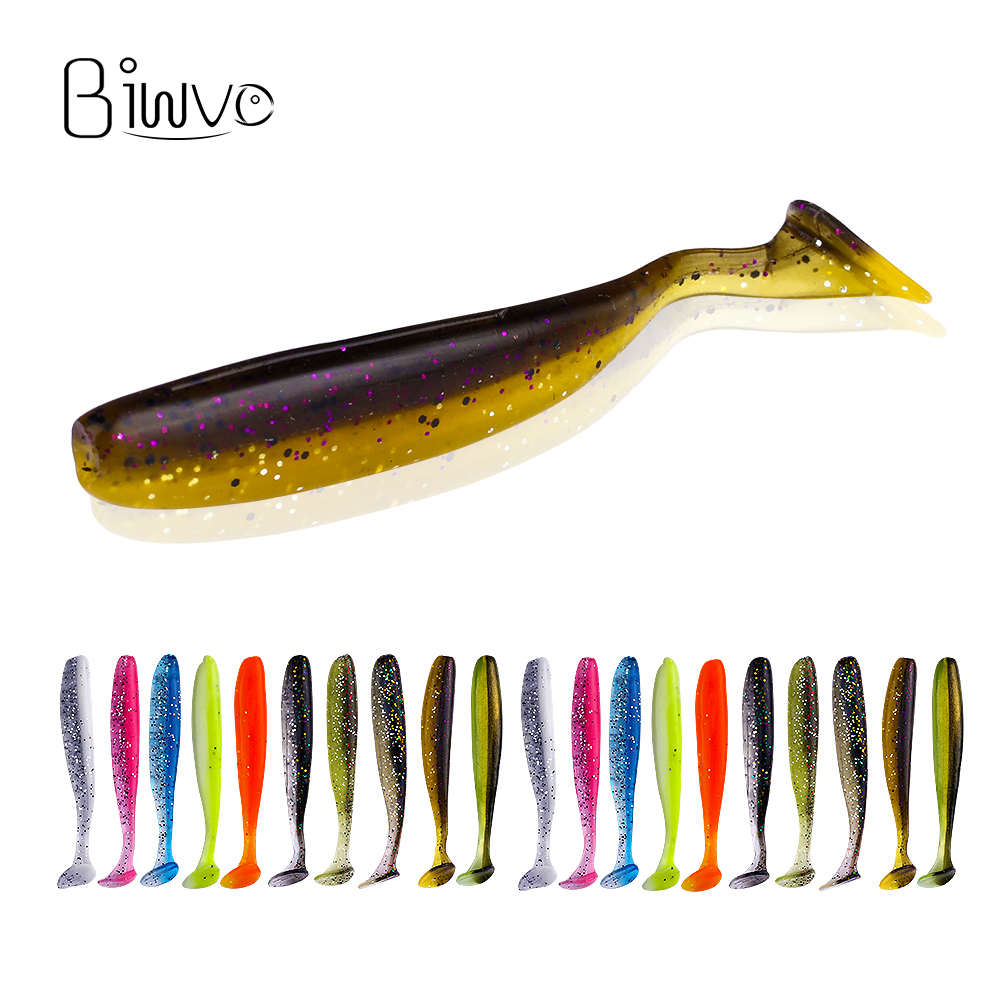 biwvo 5pcs/lot 7cm soft lures Easy Shiner Soft Wobblers Fishing Lure Silicone Double Swimbaits isca Artificial Carp Fishing(China)