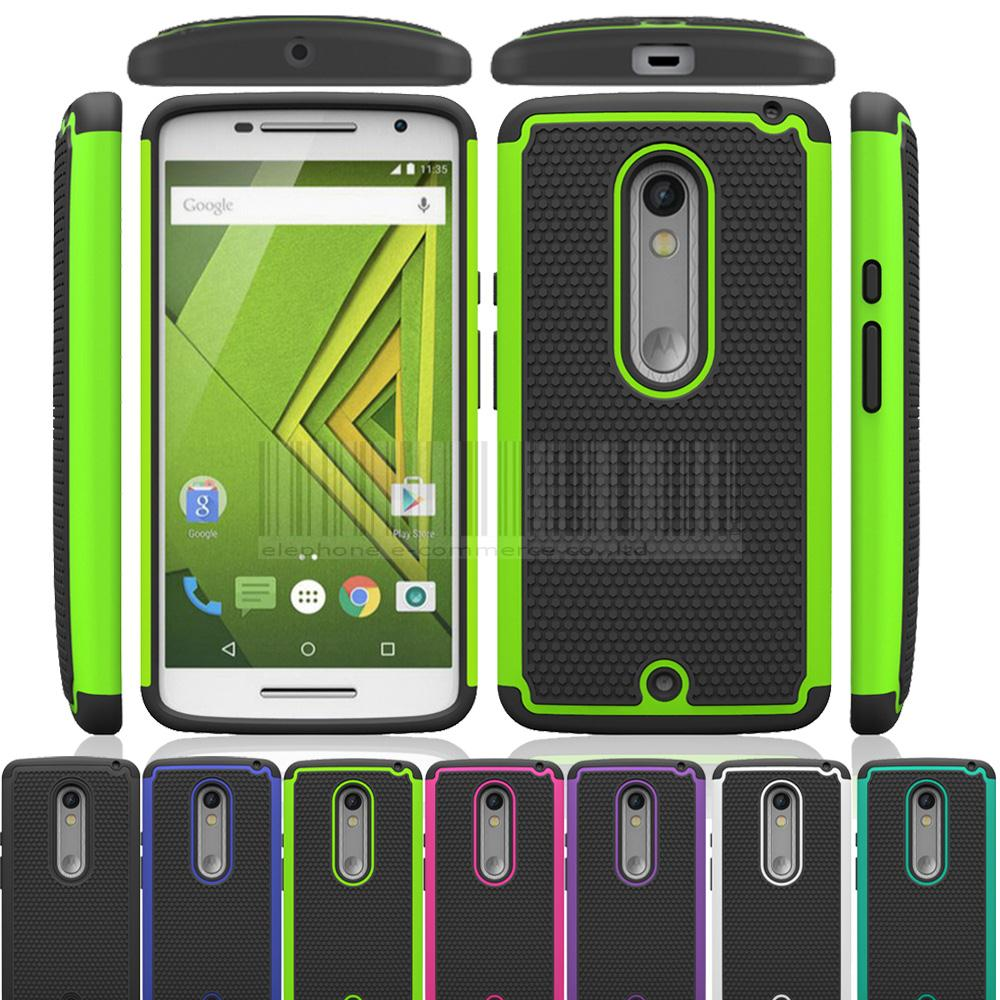 cheap for discount 6aa7f 66fc9 Dual Layer Hybrid Rugged Heavy Duty Impact Stand Back Case Cover Phone Case  For Motorola Moto X Play XT1562 XT1563/Droid Maxx 2