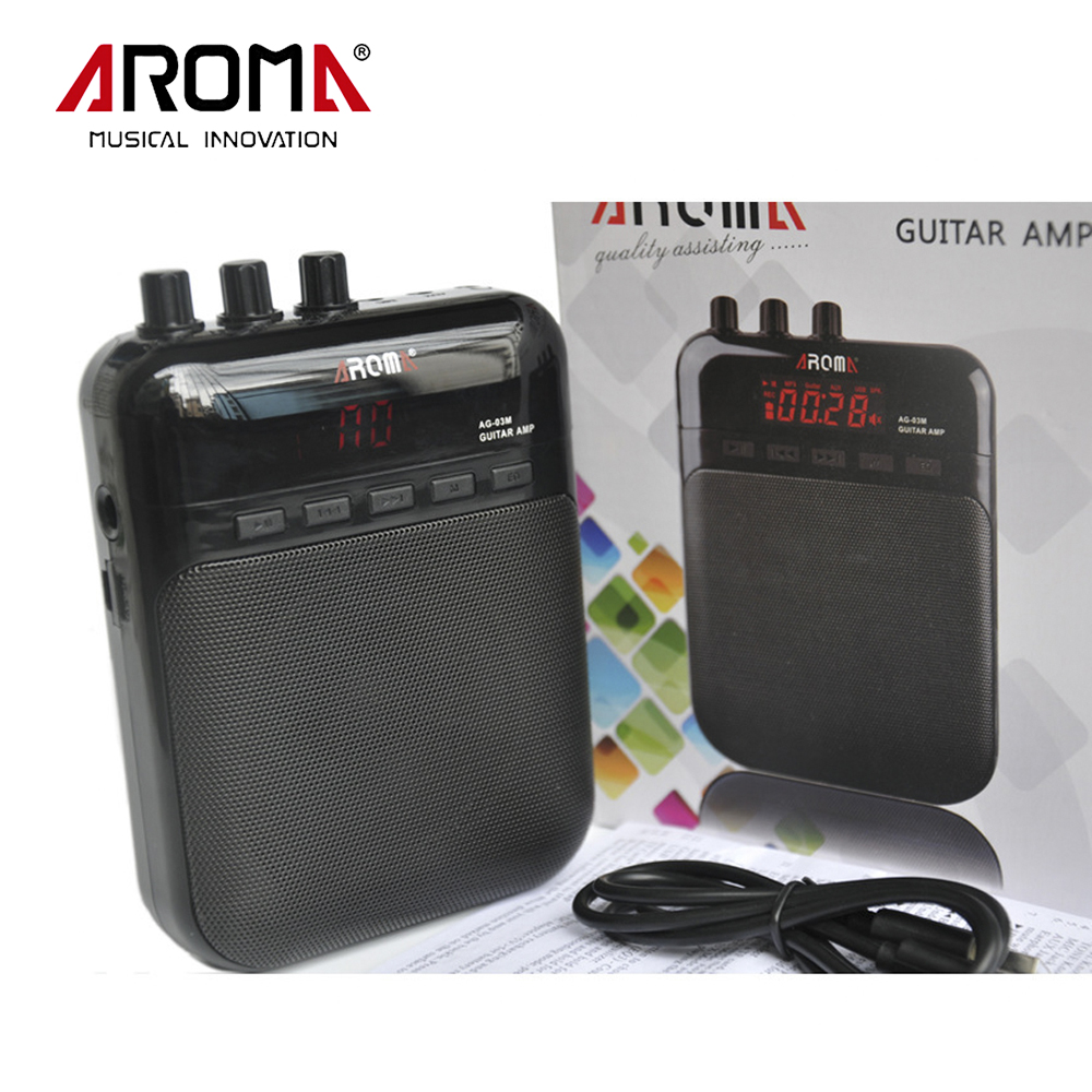 Aroma Rechargabl Guitar Amp Recorder Speaker TF Card Slot Compact AG-03 Portable Multifunction Guitar Amplifier