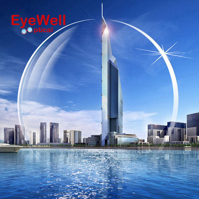 1.67 Aspheric Ultra Thin Eyeglass Prescription Lenses For Eyes Myopia with HMC EMI UV400 Diopter Nearsighted Shortsighted Hot