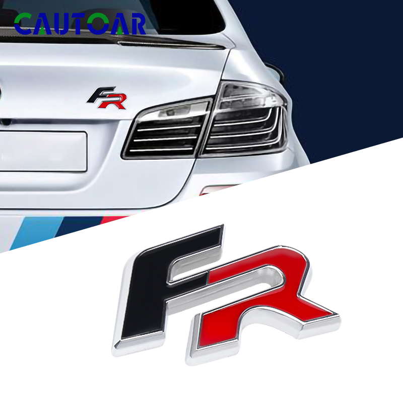 3D Metal FR Car Rear Trunk Body Emblem Sticker Trim For Seat Ibiza Altea Leon Car Stickers And Decals Auto Styling Supplies