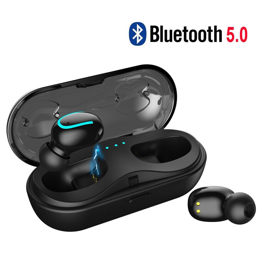 5,0 auriculares Bluetooth Mini auriculares Bluetooth para 6 horas trabajando continuamente auriculares inalámbricos fácil automáticamente emparejamiento