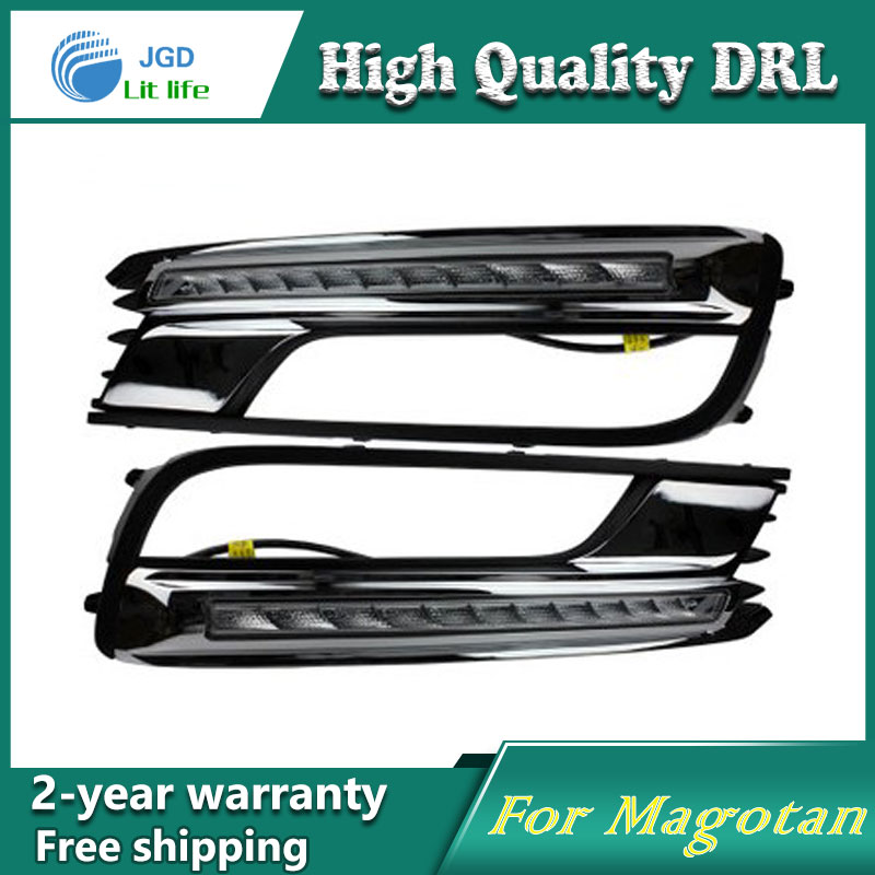 Free shipping ! 12V 6000k LED DRL Daytime running light case for VW Magotan 2012-2014 Fog lamp frame Fog light Car styling free shipping 12v 6000k led drl daytime running light case for subaru wrx 2015 2016 fog lamp frame fog light car styling