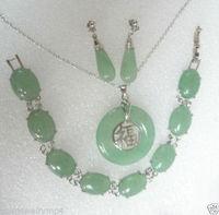 Femmes de Mariage rapide Bijoux gem bracelet pendentif collier boucles d'oreilles ensembles argent-bijoux moda réel argent-bijoux
