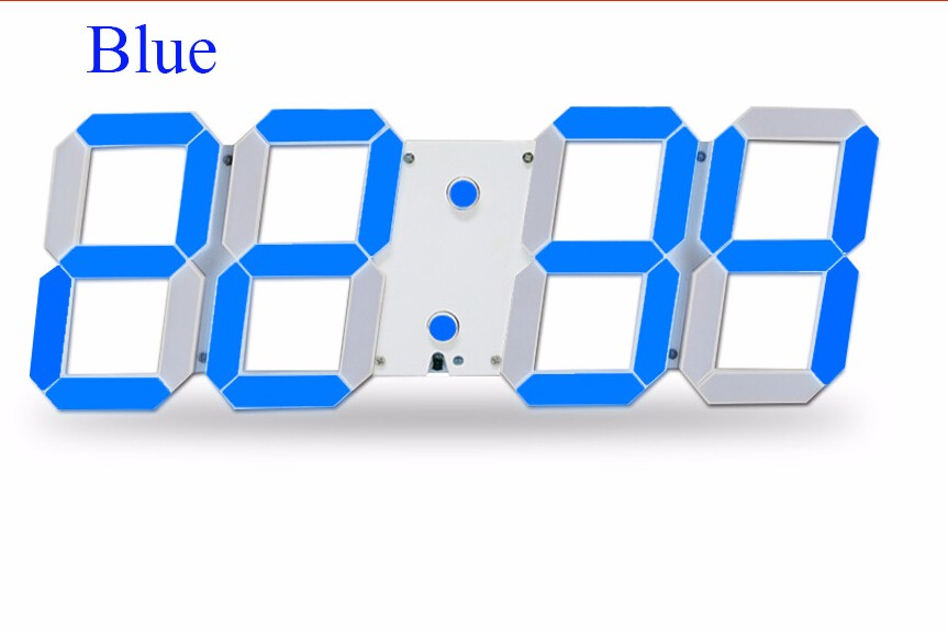 Promotion! Large Led Wall Clock Home Design Show Time Temperature On The Wall In The Living Room Digital Clock for Home Decor (4)
