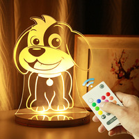 Mini light led charging remote control USB new strange 3D birthday gift bedroom lamp bedside lamp wholesale