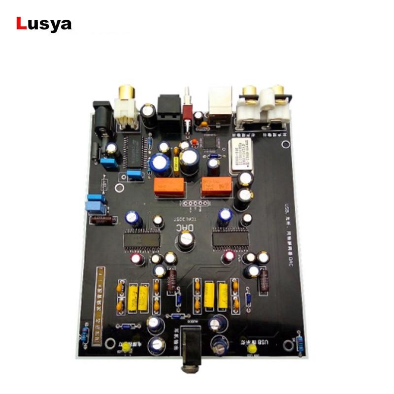 HiFi Digital Audio Decoder TDA1305T DAC Input OTG USB Coaxial Optical Output Amplifier DIY and Assembled
