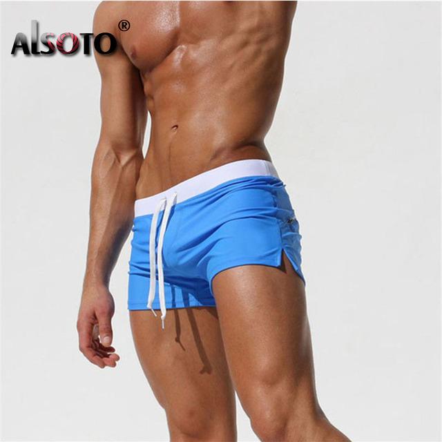 2018 Summer Beach Shorts Sexy Men Swimsuit Maillot De Bain Boy Suits Boxer bermuda Swimwear Trunks mayo sungas
