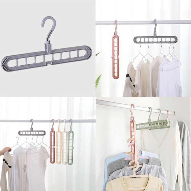 NEW Space Saver Saving Wonder Metal Magic Hanger Free Shipping Clothes Closet Organize Hook