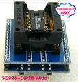 Free Shipping  SOP28 to DIP28 Socket adapter  Wide 300mil  / SOIC28 to DIP28 Socket IC programmer adapter