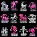Candice guo! New arrival hot sale 3D crystal puzzle 12 constellation star sign constellatory model funny game creative gift 1pc