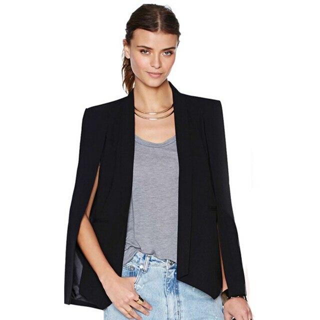 Autumn Women Casual Raglan Long Sleeve Suit Coat Slim Elegant Solid Irregular Office Lady Blazer Work Wear Jacket