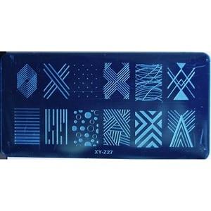 Image 3 - 1PCS 20 Designs Nail Stamping Plates Fashion Geometric Dot Square Triangle Line Pattern Templates for Polish Nail Stamp XYZ19 32