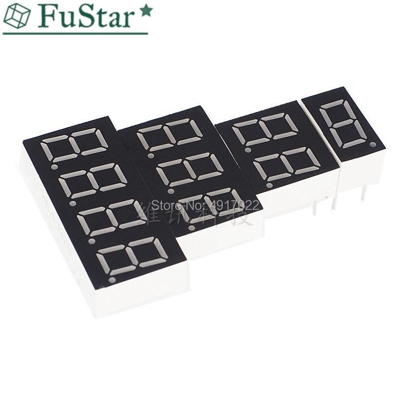 10pcs 7 Segment LED Display 0.36 Inch 1 / 2 / 3/ 4 Bit Common Cathode Common Anode Digital Tube 7 Segment LED Display Hot New