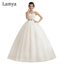 Crystal Wedding Dresses 2019 Fashion Elegant Ball Gown Large Bow Bridal Gowns sleeve lace ball gown strapless mermaid