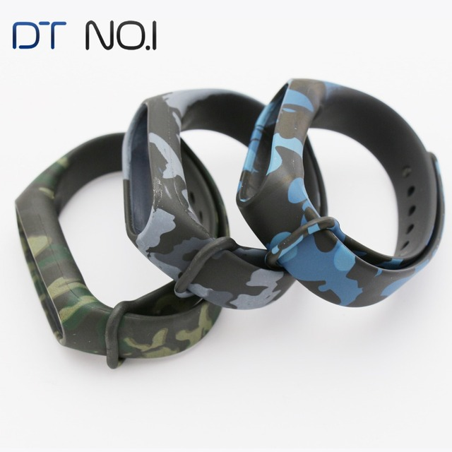 DTNO.I Colorful Silica gel Straps Replacement For xiaomi mi band 2 sports bracelet accessories Two-color straps for miband2