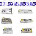 Dc 12 V fonte de alimentação AC110V 220 V Adaptador transformador para LED Strip 12 V 1.25A 2A 3A 6.5A Interruptor 10A 15A 25A 30A 33A fonte de Alimentação