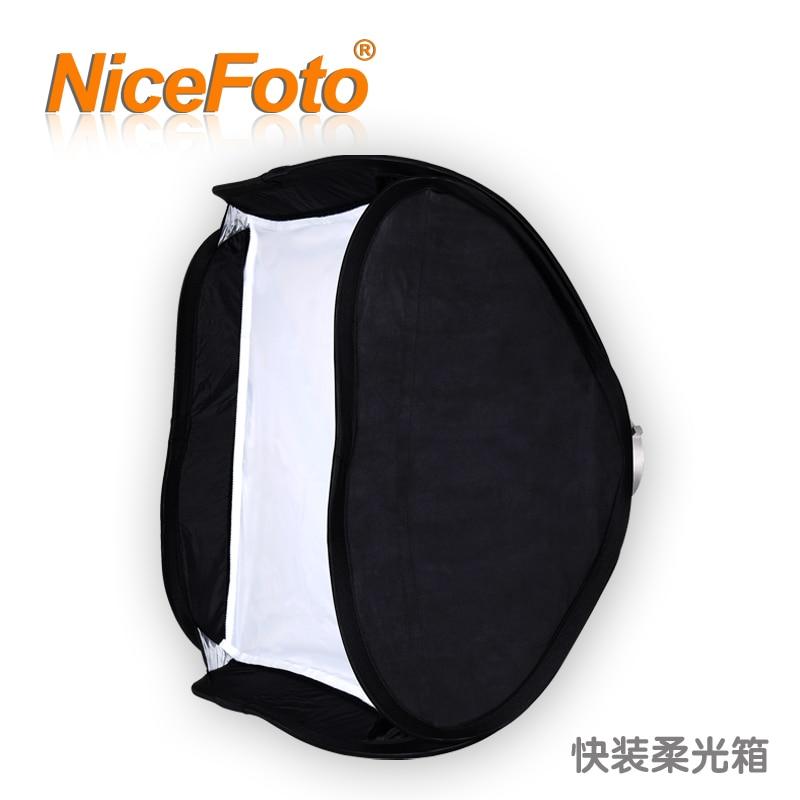 ФОТО NiceFoto softbox folding softbox portable softbox photography light box ef-60x60cm