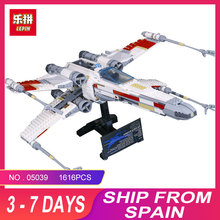 LEPIN 05039 Cool Model 1586Pcs STAR Red Five X Starfighter wing Building Blocks Bricks toy Compatible