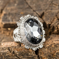 Best Gift Choice Luxury Big Men Ring Antique Grey Crystal Ring For Women Wholesale FREE SHIPPING