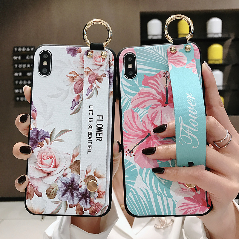 <font><b>Phone</b></font> <font><b>Case</b></font> For <font><b>Samsung</b></font> Galaxy Note 10 10+ 8 9 <font><b>S9</b></font> S8 S10 plus A30 40 50 A70 Wrist Strap <font><b>Case</b></font> <font><b>Holder</b></font> Stand Cover With Fingerprin image