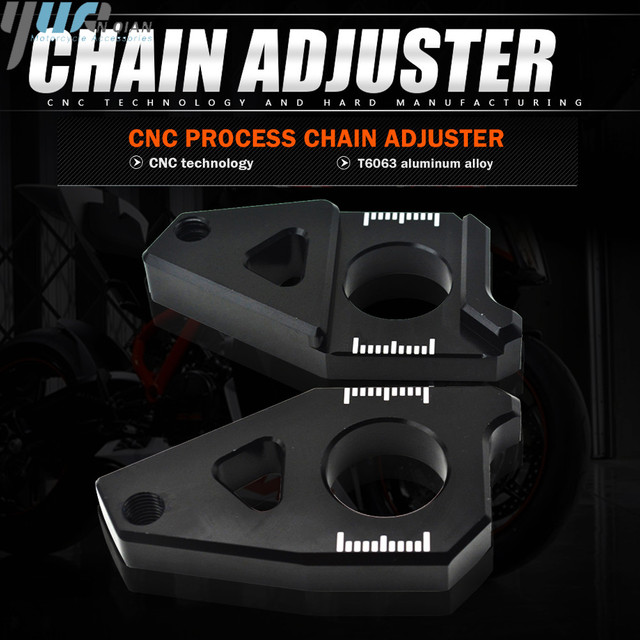 Motorcycle Accessories Chain Adjusters Tensioners Chain Adjuster Fits For YAMAHA FZ8 Tmax 530 TMAX 530 12 15 FZ1 YZF R1 CNC