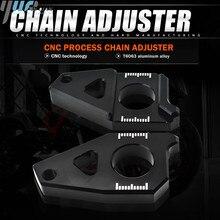 Motosiklet Aksesuarları Zincir Ayarlayıcıları Gergi Zincir Ayarlayıcı Uyar YAMAHA FZ8 Tmax 530 TMAX 530 12 15 FZ1 YZF r1 CNC