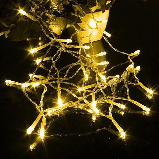 2m 20 led battery operated new year xmas navidad garland led christmas decoration cord outdoor - Battery Operated Outdoor Christmas Decorations