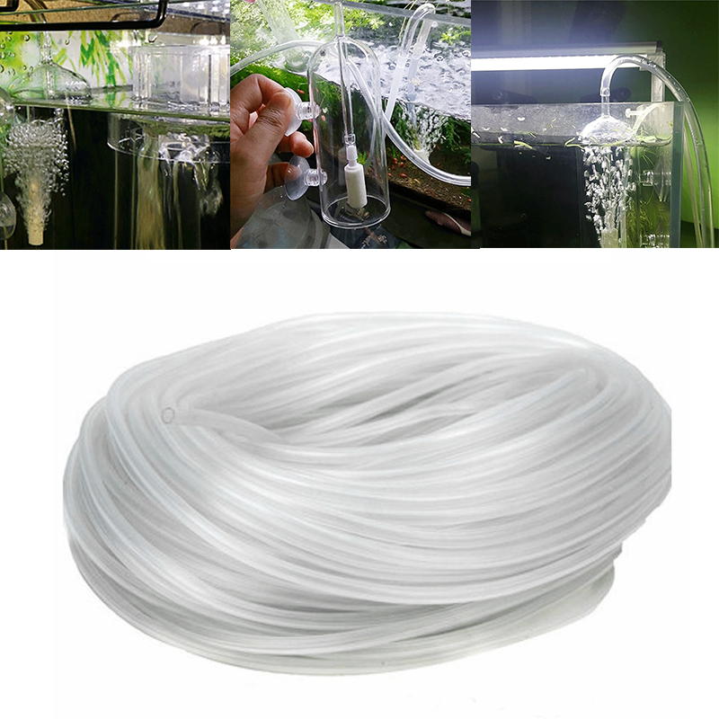 3M/5M New Oxygen Pump Hose For Air Bubble Stone Aquarium Fish Tank Pond Pump 4*6mm  Aquarium Air Pump  Aquarium Accessories