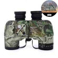 Boshile binoculars 10x50 Professional Marine binocular Waterproof with Compass Military High quality telescope Eyepiece focusing все цены