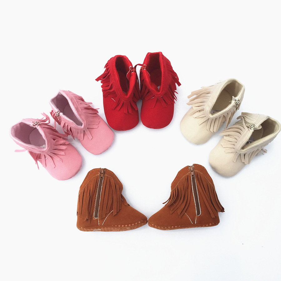 New-fringe-baby-girl-shoes-non-slip-soft-bottom-toddler-shoes-Cotton-princess-0-1-year-boots-4