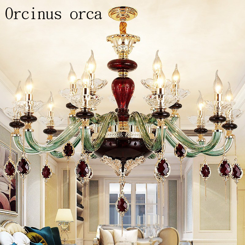 European luxury crystal chandelier living room bedroom restaurant French romantic art creative high grade glass pendant lamp vintage clothing store personalized art chandelier chandelier edison the heavenly maids scatter blossoms tiny cages