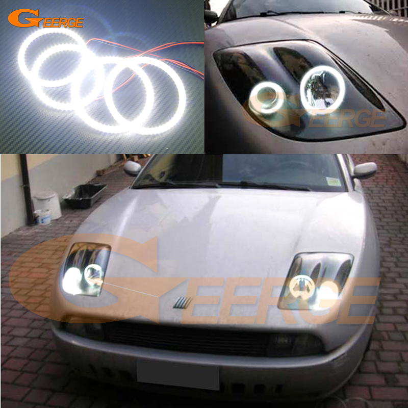 For Fiat Coupe 1993 1994 1995 1996 1997 1998 1999 2000 Excellent Ultra bright illumination smd led Angel Eyes Halo Ring kit