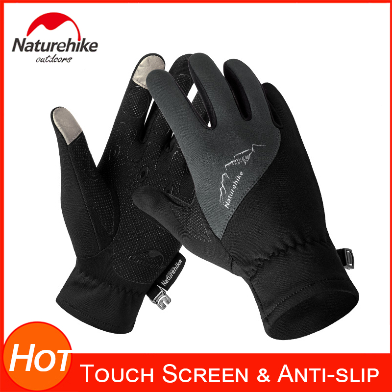 Naturehike Autumn Winter Gloves For Men And Women Soft Warm Anti-Slip Silicone Gel Touch Screen Running Cycling Sports Glove