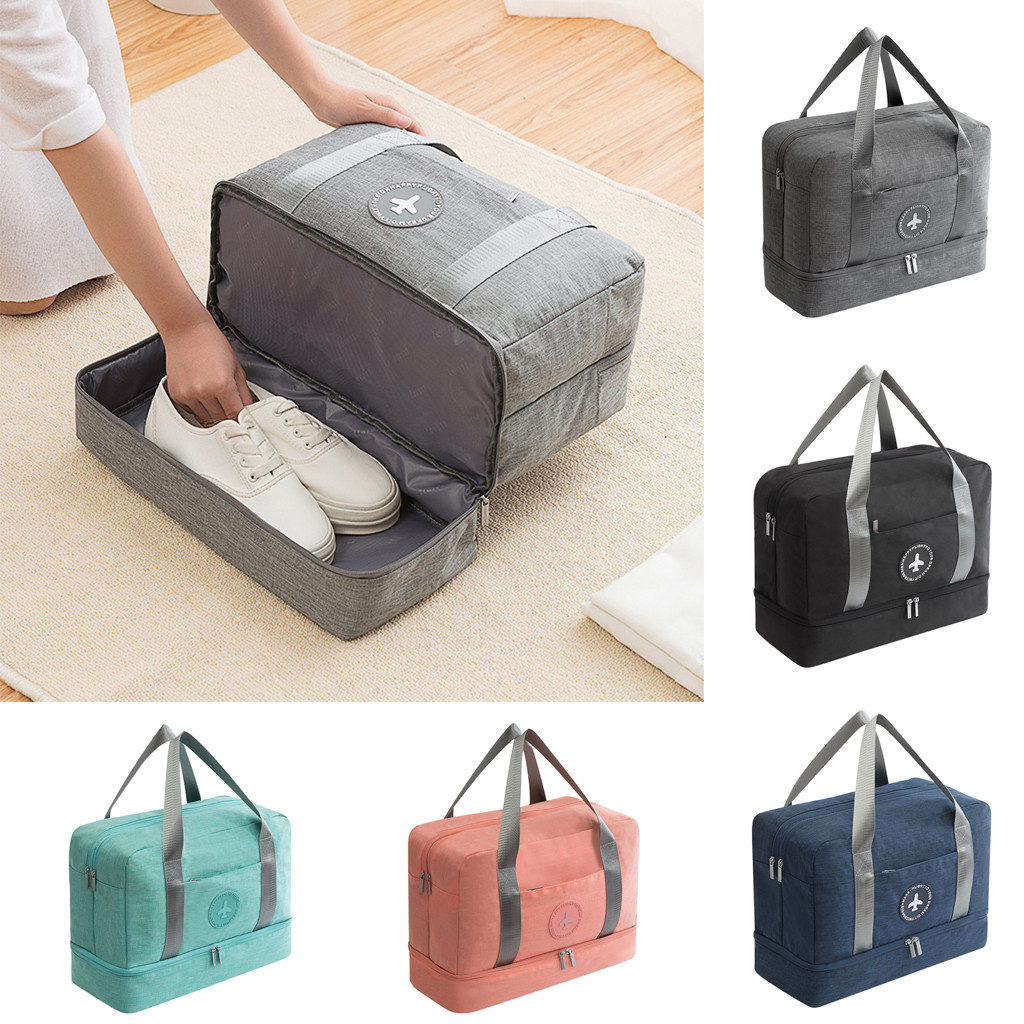 Travel Bag For Man Women Travel Carry On Luggage Dry Wet Separation Storage Bag Support Wholesale And Dropship