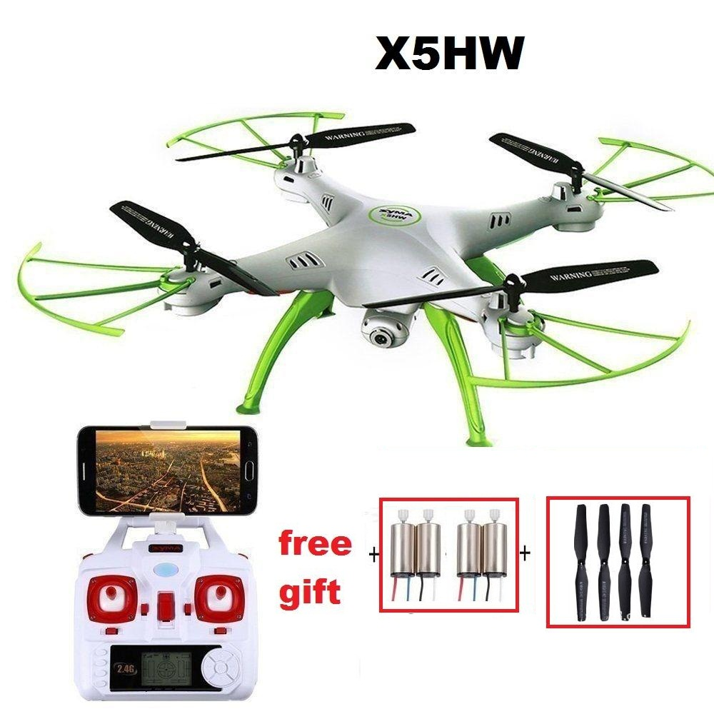 YUKALA X5HW FPV RC Quadcopter Drone with Camera WIFI RC Quadcopter with FPV Camera Real Time RC Helicopter Quad copter Toys rc drone quadcopter x6sw with hd camera 6 axis wifi real time helicopter quad copter toys flying dron vs syma x5sw x705