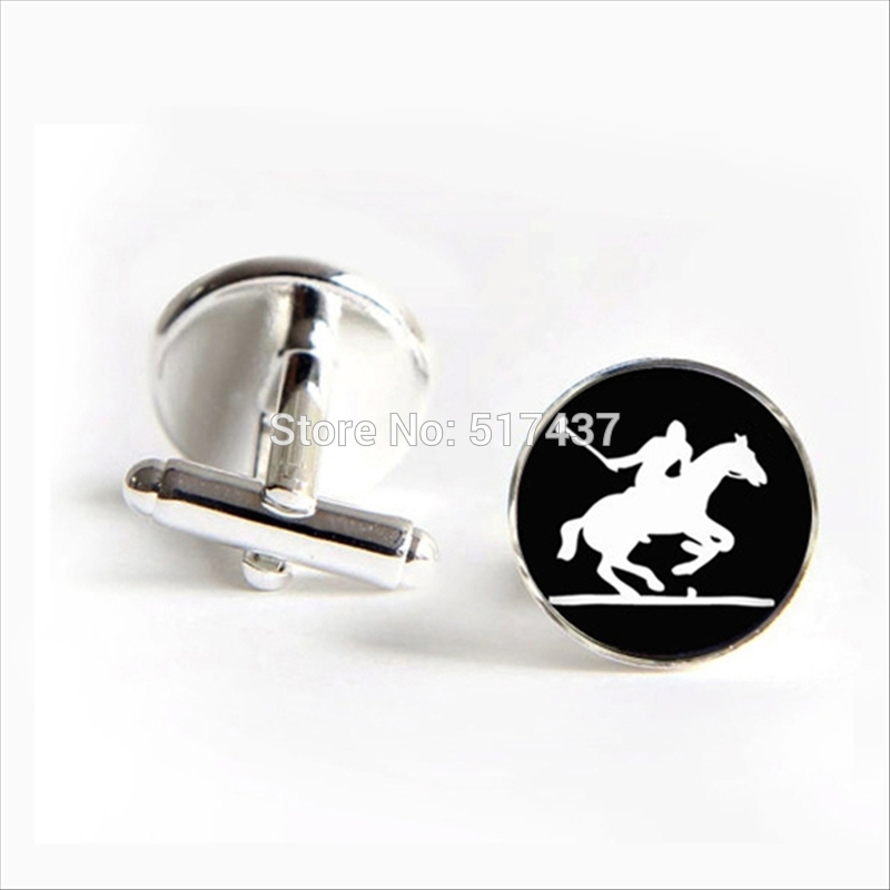 2017 wholesale British Polo Sport Cufflinks Horse Player Cuff Link Sports Lover Gifts Shirt Cufflinks For Mens