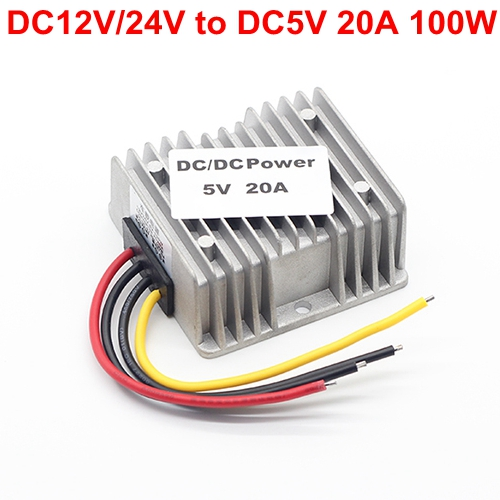 DC9V-36V 12V/24V to 5V 20A 100W Bus/ car Vehicle led display Power supply DC-DC Buck Converter Step Down Module waterproof 10pcs 5 40v to 1 2 35v 300w 9a dc dc buck step down converter dc dc power supply module adjustable voltage regulator led driver