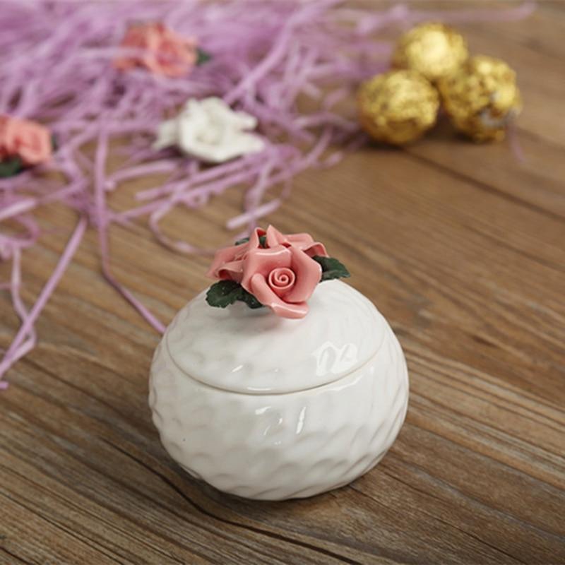 6 pièces céramique boîte cadeau boîte à bonbons paquet boîtes pour fête faveurs doux sacs boîte de mariage bijoux sac de rangement pour la saint-valentin - 5