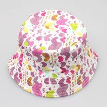 2019 nueva moda Niño niños bebé niños niñas Floral patrón cubo sombreros de  sol casco suave cómodo Primavera Verano accesorio fb9d692c6b5