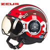 ZEUS Taiwan Motorcycle Helmet Motorbike Helmet Motocorss Jet Retro3 4 Half Helmet218C