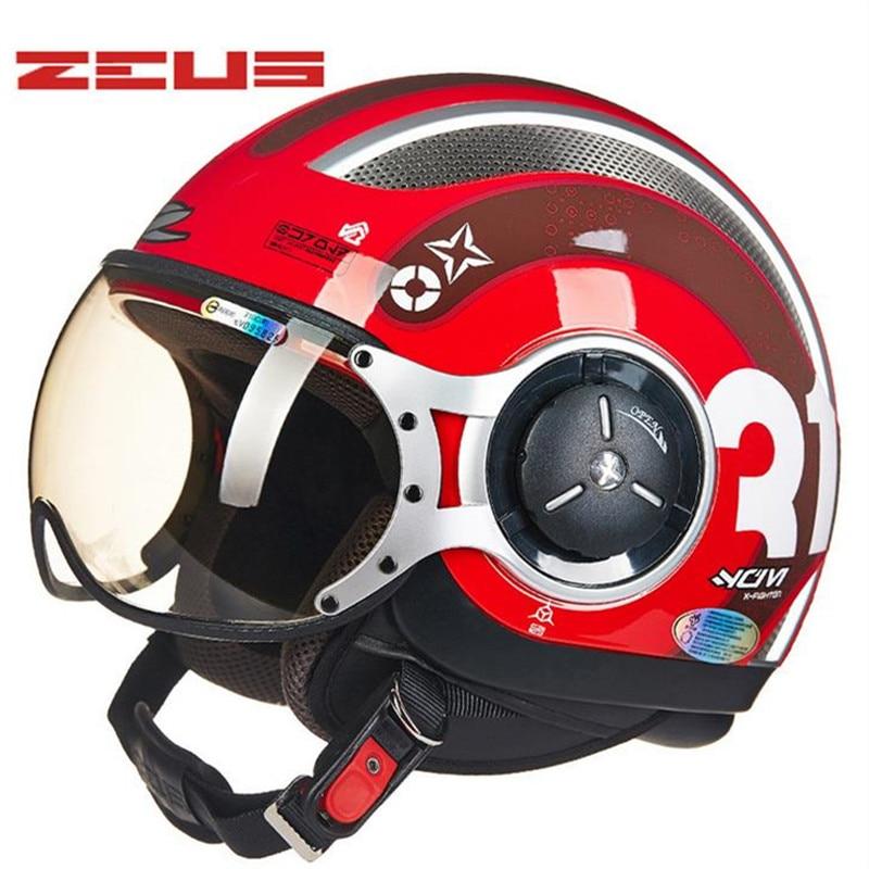 Зевс Тайвань мотоциклетный шлем мотоцикл шлем motocorss струи retro3/4 половина helmet218C
