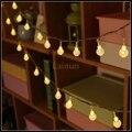 NUEVA 10 M 100 unids Waterdrop LLEVÓ luces de la Secuencia de Hadas de Navidad AC220V Holiday Boda Garland Festival Patio Al Aire Libre de Iluminación